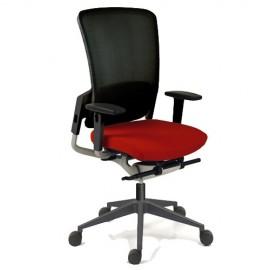 Fauteuil de bureau ergonomique E8 d'EUROSIT en coloris rouge.