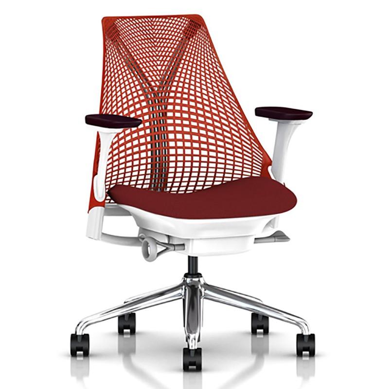 Fauteuil de bureau Ergonomique et Design Sayl rouge