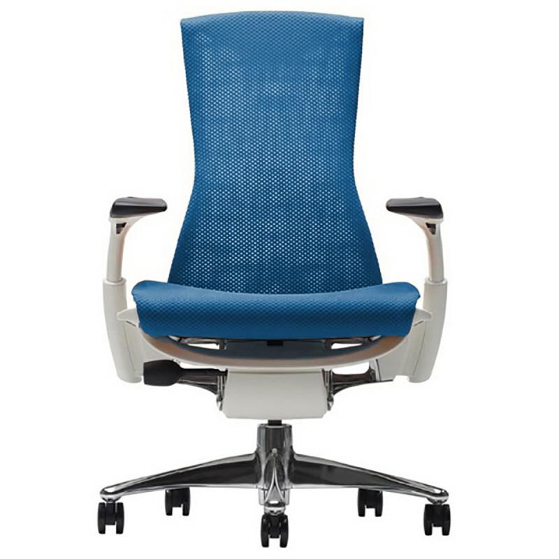 Fauteuil de Bureau Design Embody d'Herman Miller en coloris bleu.