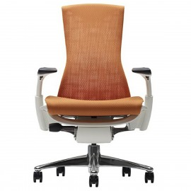 Fauteuil de Bureau Design Embody d'Herman Miller en coloris orange.