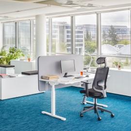 Bureau électrique Design Drive de MDD en coloris Blanc.