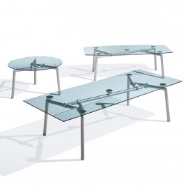 Table de Réunion Design en verre Isotta d'ULTOM.