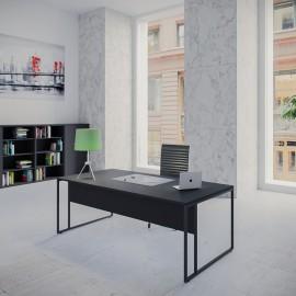 Bureau individuel design Stricto Sensu de Buronomic en finition noir