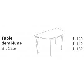 Représentation de la table demi-lune Rencontre de Buronomic.