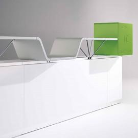 Banque d'accueil Design Can I Help d'ULTOM coloris vert