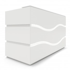 Banque d'accueil Design Rivage de BURONOMIC.