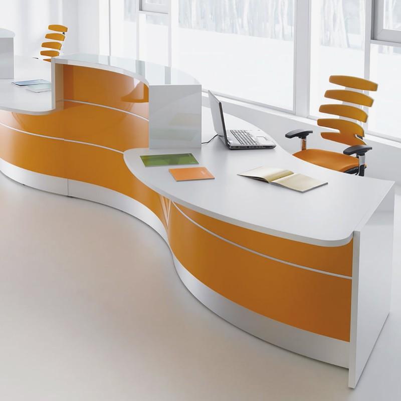 Banque d'accueil Design Valde de Mdd en coloris orange brillant