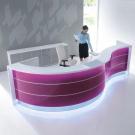 Banque d'accueil Design Valde de Mdd en coloris fuchsia brillant