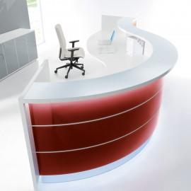 Banque d'accueil Design Valde de Mdd en coloris bordeaux brillant