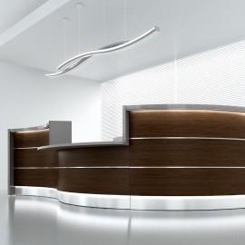 Banque d'accueil Design Valde de Mdd en coloris wenge