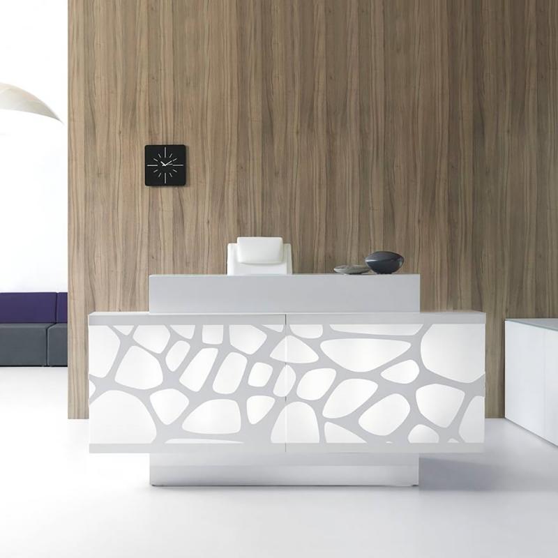 Banque d'accueil Design Organic de MDD.