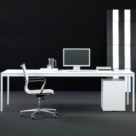 Bureau de Direction Design Bianco Nero de FANTONI en coloris blanc.
