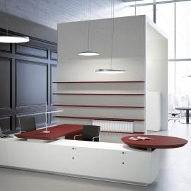 Bureau Design Multipli.CEO de FANTONI rouge et blanc.