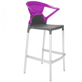Tabouret Design et Ergonomique Ego-K Stool de PAPATYA coloris rose.