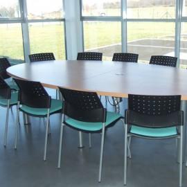 Chaise de réunion Design Taki bleu