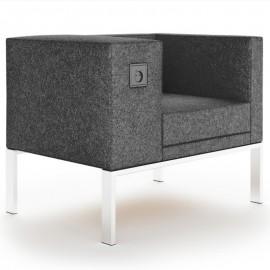 Siège Design BOLD de Buronomic en coloris gris foncé