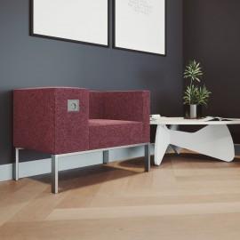Siège Design BOLD de Buronomic en coloris prune dans un espace d'accueil / hall d'entreprise