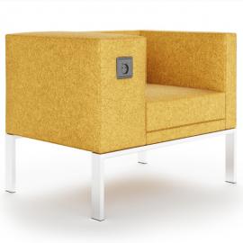 Siège Design BOLD de Buronomic en coloris moutarde