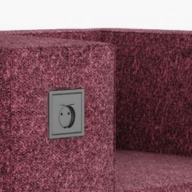 Siège Design BOLD de Buronomic en coloris prune