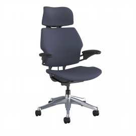 Fauteuil de bureau Design et Ergonomique Freedom en coloris gris.