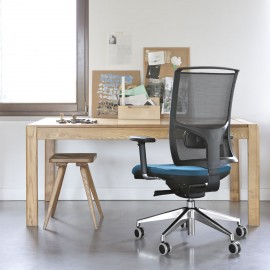 Fauteuil de bureau Design et Ergonomique Zed en coloris bleu.