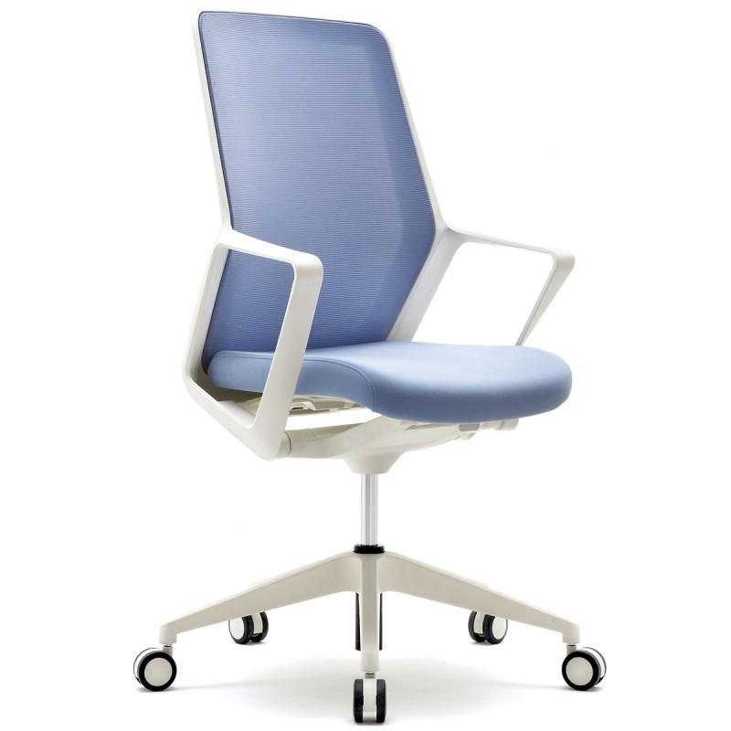 Fauteuil De Bureau Design Et Ergonomique Flo En Coloris Bleu.