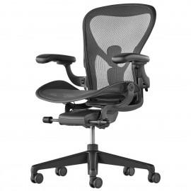 Fauteuil de bureau Design et Ergonomique Aeron en coloris noir.