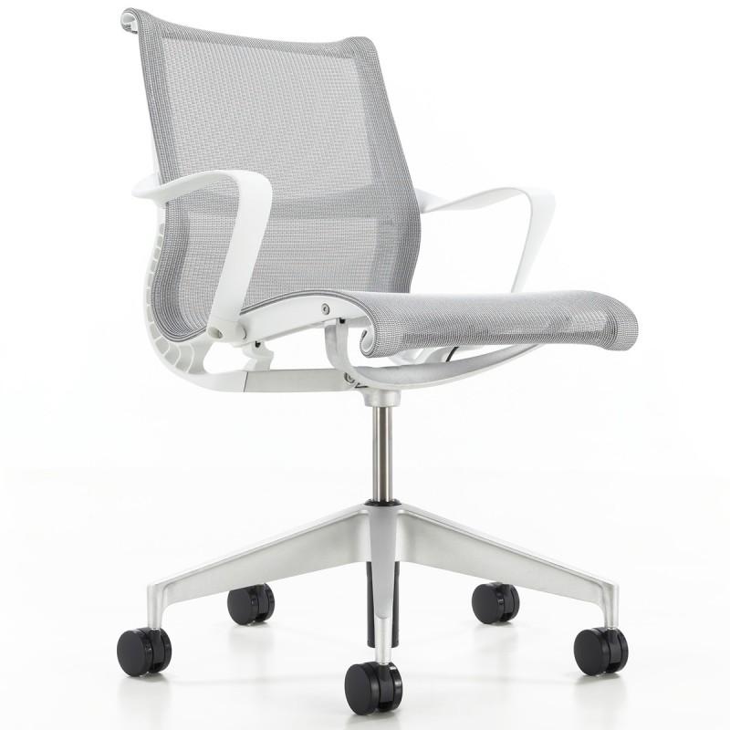 Fauteuil de bureau Design et Ergonomique Setu blanc