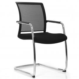 La chaise visiteur design et ergonomique PassPort de Viasit en coloris noir