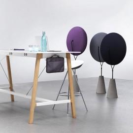 L'élément acoustique Baudot Zero d'ALLERMUIR en coloris violet, noir et gris