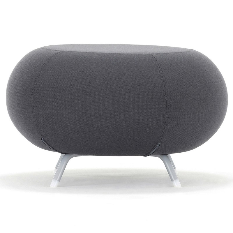 Pouf Pebble d'ALLERMUIR en coloris anthracite.