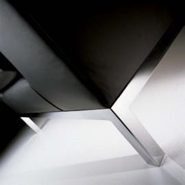 Canapé design 2 places en cuir noir